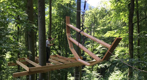 Baumhaus bauen DIY - Seilzug und Flaschenzüge