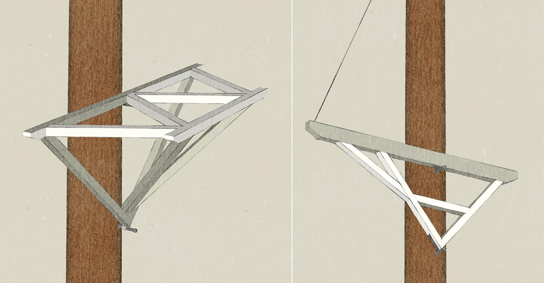 anleitung baumhaus bauen plattform befestigen mit baumhausschrauben