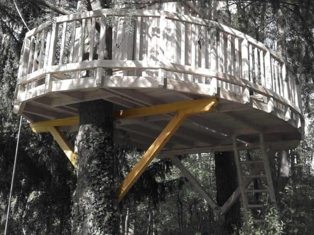 treehouse platform construction tutorial