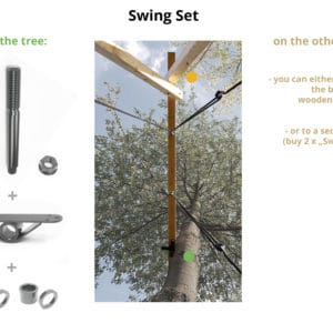 attaching swing to tree set
