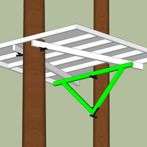wie befestigt man ein Baumhaus richtig