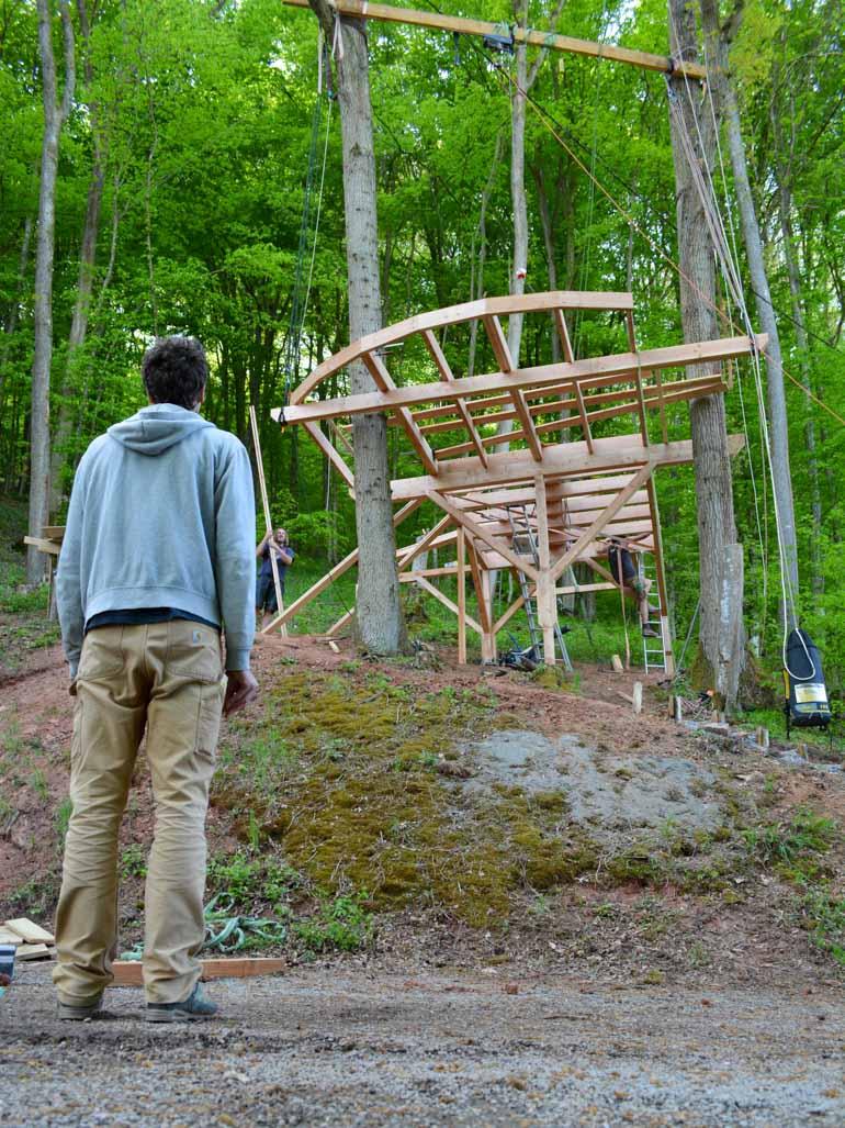 Example: Tree house platform construction, correct planning
