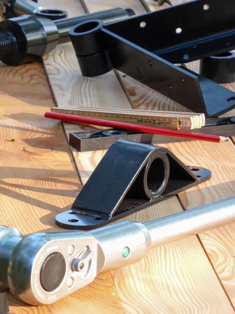 Baumhaus Werkzeug und Holz