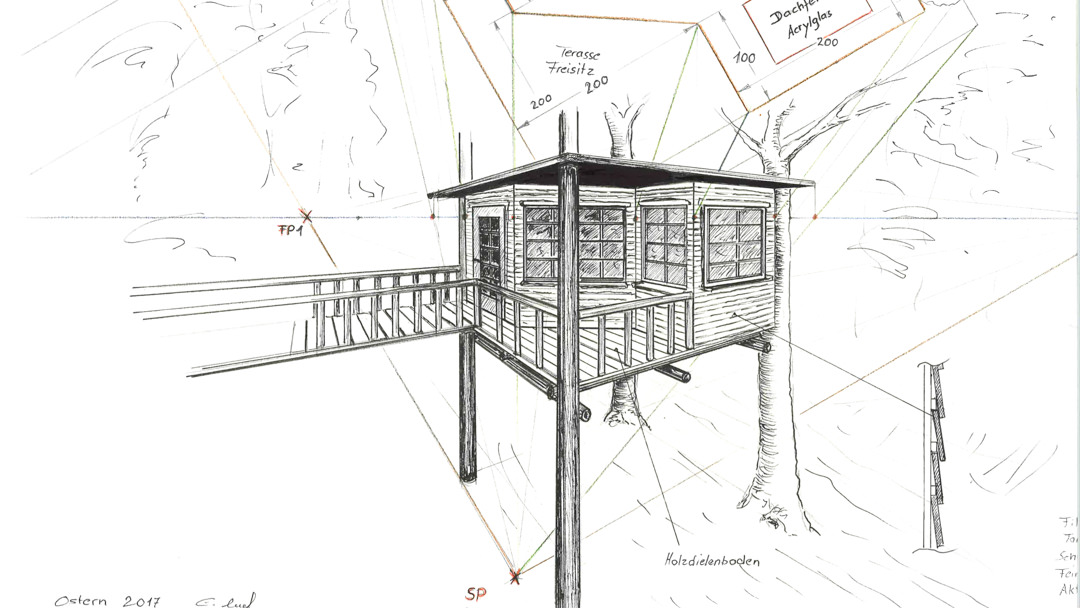 Tree House Drawing Planning and Design by Benjamin Layh