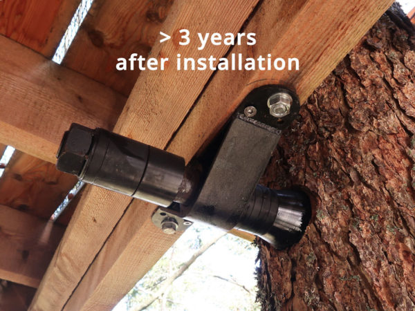 example tree house bolts safe and stable after 3 years