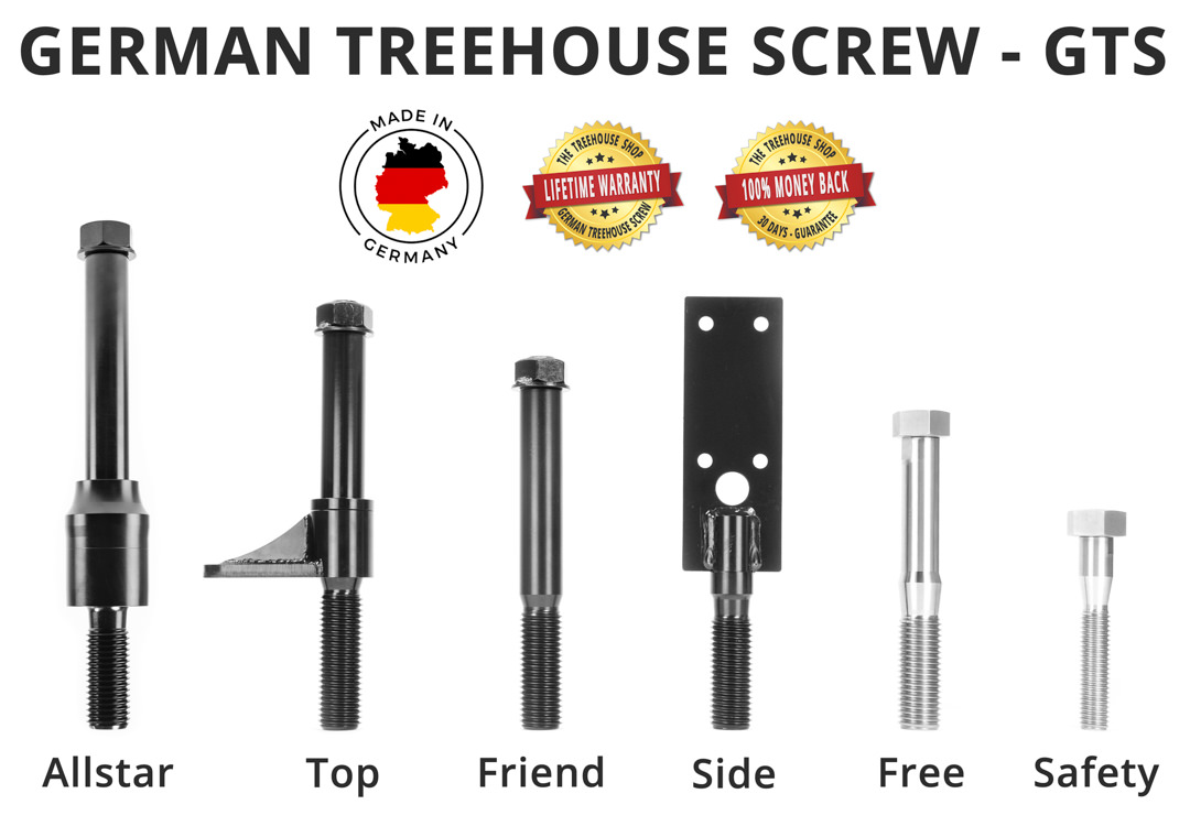 Steel screws for tree house construction GTS Product overview
