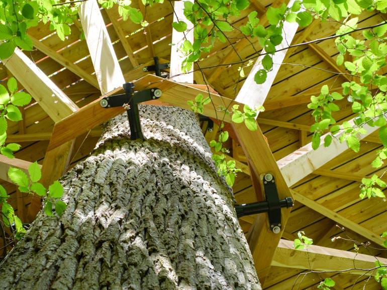Beispiel Baumhaus Schrauben tragen große Baumhaus Konstruktion