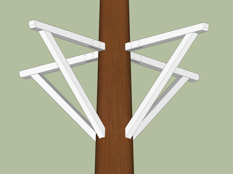 Baumhaus Plan ein Baum Plattform