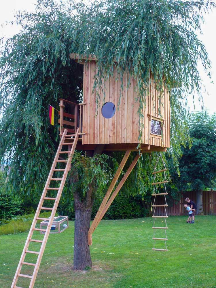 Beispiel Kosten für kleines Kinder Baumhaus in Garten