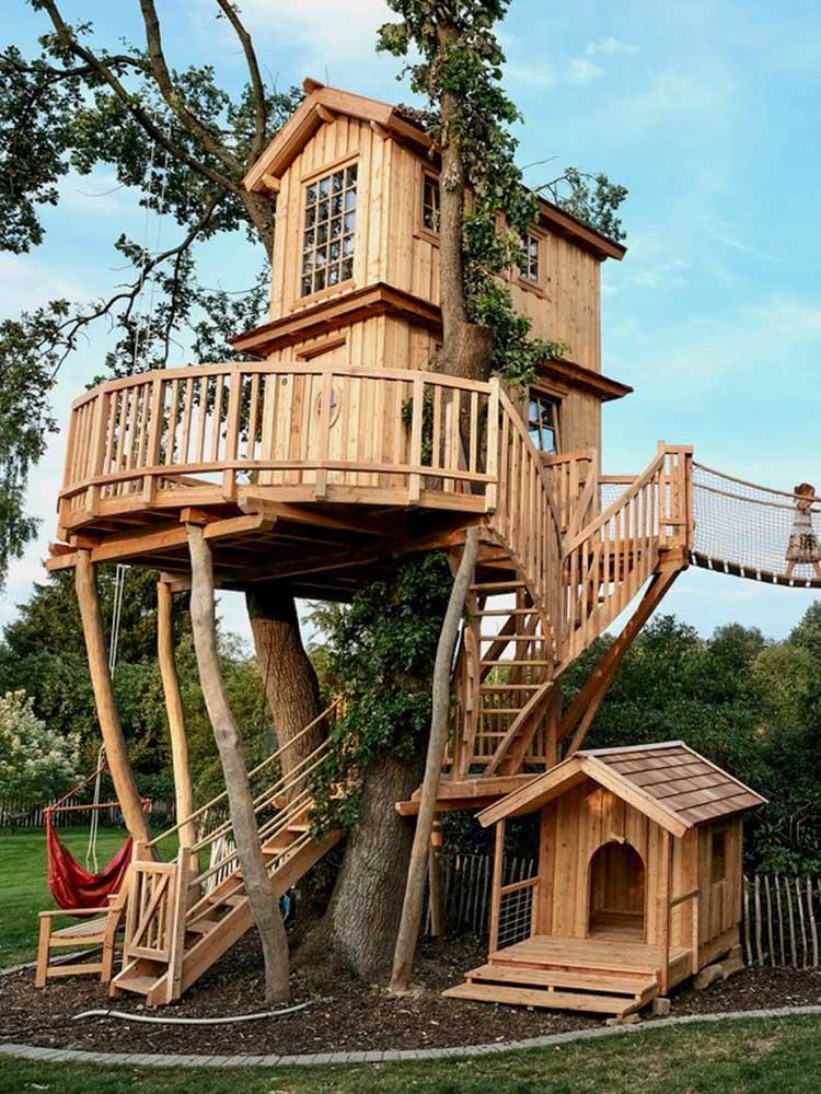 Beispiel Luxus Baumhaus selber bauen Kosten und Material