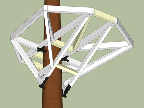 Holz Plattform in Baum Anker Anleitung