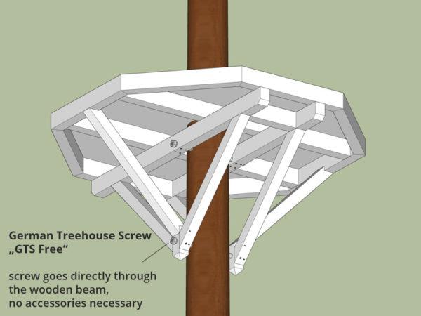 Small tree house platform build a tree