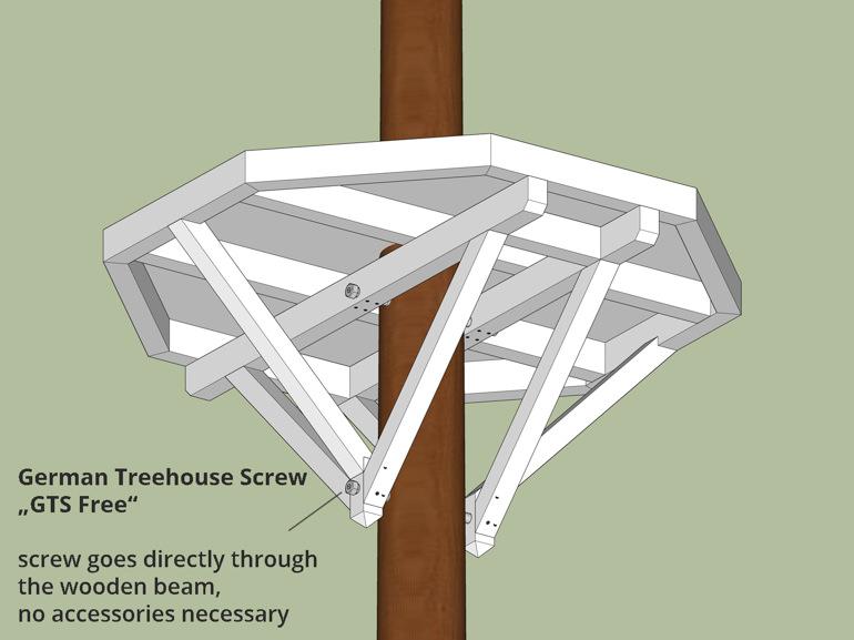 Kleine Baumhaus Plattform bauen ein Baum