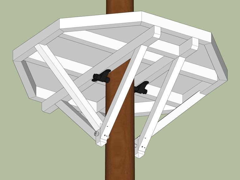 Baumplattform Bauen Anleitung ein Baum
