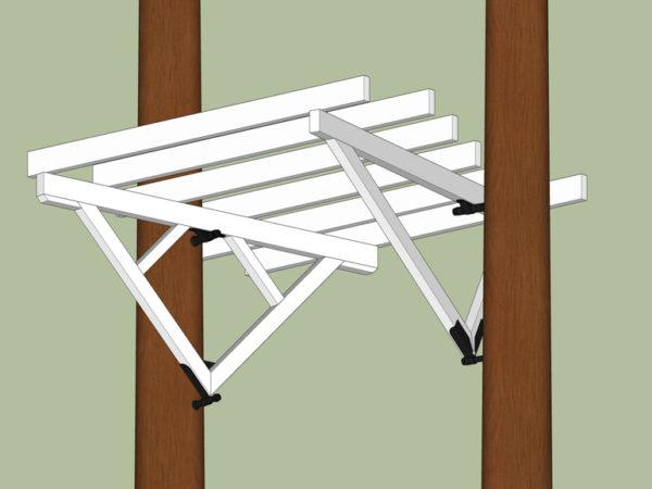 Beispiel Baumhaus Unterbau