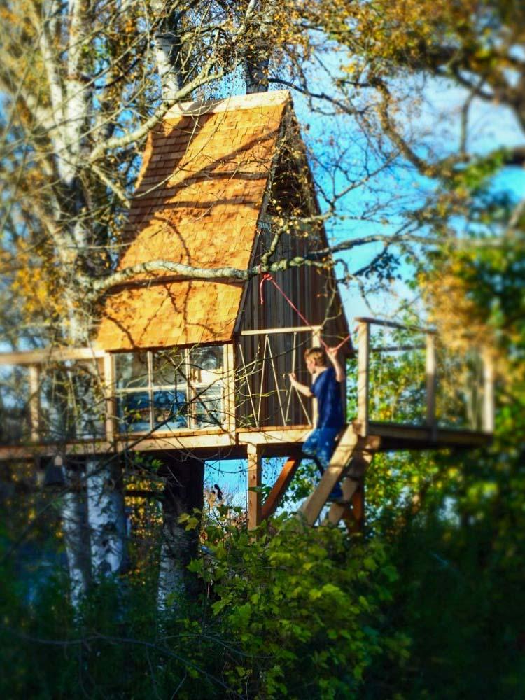 Beispiel Kosten für kleines Baumhaus in Garten