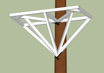 Baumplattform bauen mit Holzdreieck Anleitung