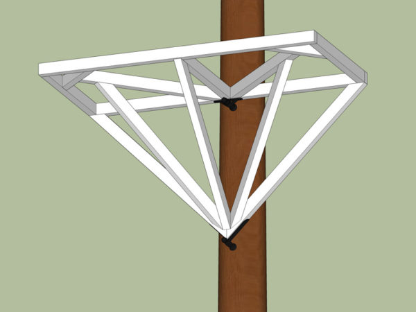 Building a Tree Platform with Wooden Triangle Instructions