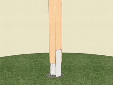 Baumhaus Bauen auf Stelzen Fundament
